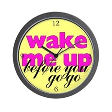 Wake Me Up! Retro Wall Clock