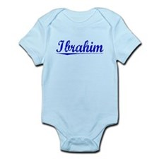 Ibrahim, Blue, Aged Infant Bodysuit