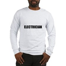 Black Electrician text on the fornt only.