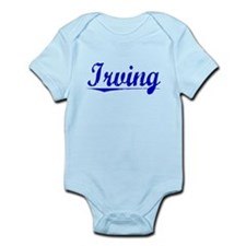 Irving, Blue, Aged Infant Bodysuit