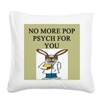 pop psych Square Canvas Pillow