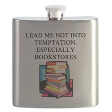 funny geek books joke gifts t-shirts Flask