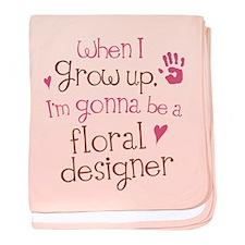 Future Floral Designer baby blanket
