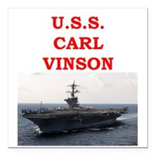 "carl vinson Square Car Magnet 3"" x 3"""