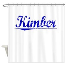 Kimber, Blue, Aged Shower Curtain