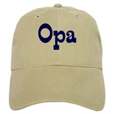 Opa Baseball Cap (white or khaki)