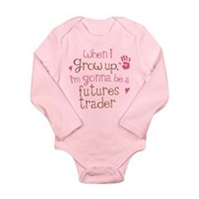 Future Futures Trader Long Sleeve Infant Bodysuit