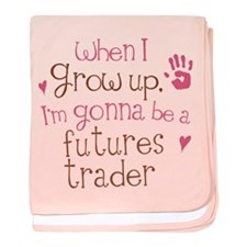 Future Futures Trader baby blanket