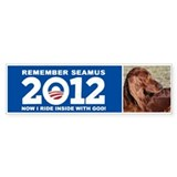 Seamus Inside with God! Bumper Sticker