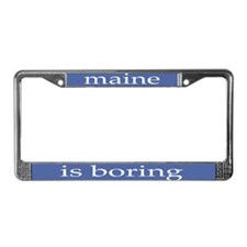 Boring License Plate Frame