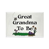 Great Grandma To Be Gardener Rectangle Magnet