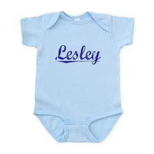 Lesley, Blue, Aged Infant Bodysuit