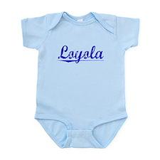 Loyola, Blue, Aged Infant Bodysuit