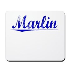 Marlin, Blue, Aged Mousepad