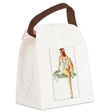 The Pin Up Girl. Canvas Lunch Bag