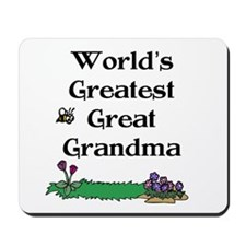 World's Greatest Great Grandm Mousepad