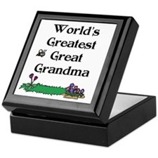 World's Greatest Great Grandm Keepsake Box