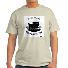 Party Like It's Rumspringa Ash Grey T-Shirt