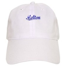 Melton, Blue, Aged Baseball Cap