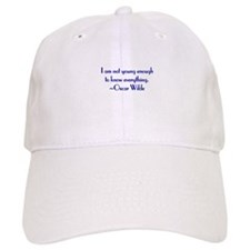 Wilde - not young enough Baseball Cap