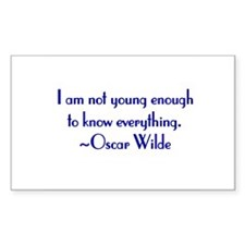 Wilde - not young enough Rectangle Decal