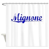 Mignone, Blue, Aged Shower Curtain