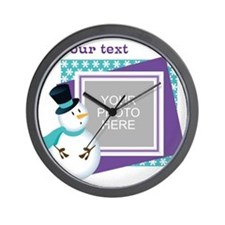 Personalized Christmas Snowman Wall Clock