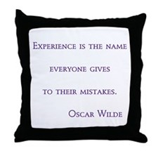 Wilde-experience is the name Throw Pillow