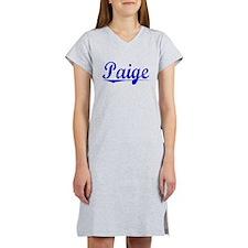 Paige, Blue, Aged Women's Nightshirt
