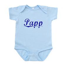 Papp, Blue, Aged Infant Bodysuit