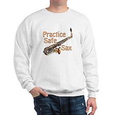 Practice Safe Sax Sweatshirt