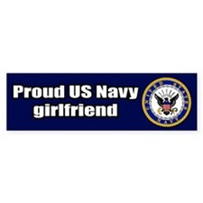 Navy Girlfriend Bumper Bumper Sticker