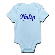 Philip, Blue, Aged Infant Bodysuit
