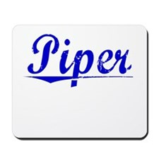 Piper, Blue, Aged Mousepad