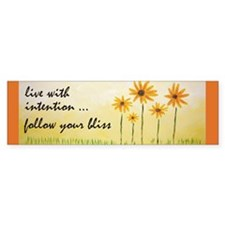 Live With Intention Bumper Bumper Sticker