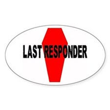 LAST RESPONDER Oval Decal