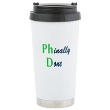 Phinally Done Green Ceramic Travel Mug
