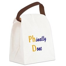 Phinally Done Canvas Lunch Bag