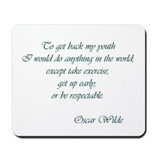 Wilde - to get back my youth Mousepad