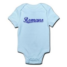 Romano, Blue, Aged Infant Bodysuit