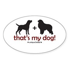 Lab/Great Pyrenees Oval Decal