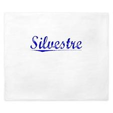 Silvestre, Blue, Aged King Duvet