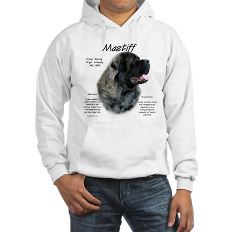 Brindle Fluffy Mastiff Hooded Sweatshirt