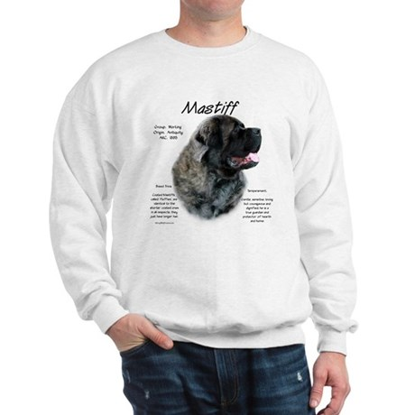 Brindle Fluffy Mastiff Sweatshirt