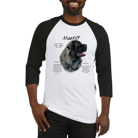 Brindle Fluffy Mastiff Baseball Jersey