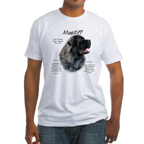 Brindle Fluffy Mastiff Fitted T-Shirt