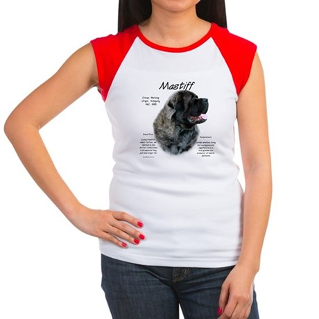 Brindle Fluffy Mastiff Women's Cap Sleeve T-Shirt