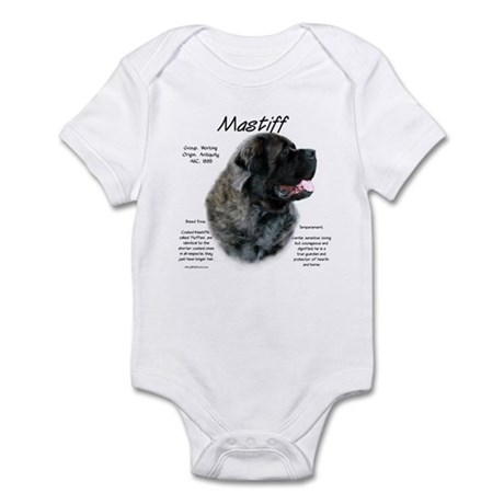 Brindle Fluffy Mastiff Infant Bodysuit