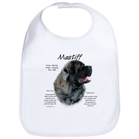 Brindle Fluffy Mastiff Bib
