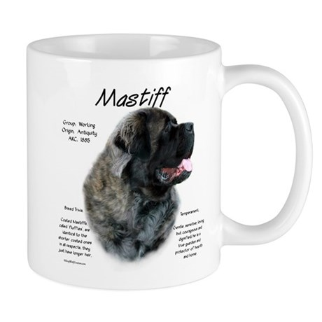 Brindle Fluffy Mastiff Mug